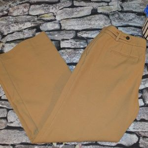 Ann Taylor Loft Tan Petites Wide Leg Work Pants 6P